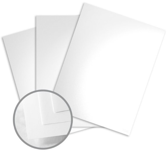 Color Copy Gloss Pure White Card Stock - 8 1/2 x 11 in 80 lb Cover Glossy C/2S 250 per Package