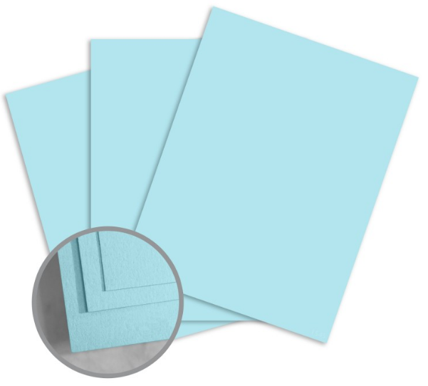 ColorMates Smooth & Silky Sky Blue Card Stock - 12 x 12 in 90 lb Cover Smooth 25 per Package