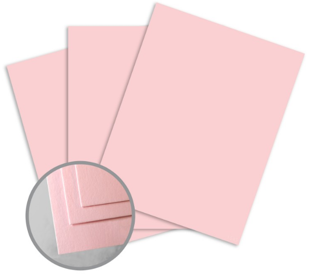 ColorMates Smooth & Silky Pink Card Stock - 8 1/2 x 11 in 90 lb Cover Smooth 25 per Package