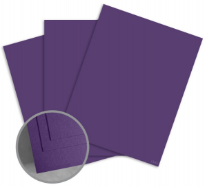 ColorMates Smooth & Silky Royal Purple Card Stock - 8 1/2 x 11 in 90 lb Cover Smooth 25 per Package
