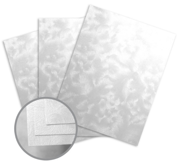 Constellation Jade Silver Card Stock - 8 1/2 x 11 in 80 lb Cover Riccio C/1S 250 per Package