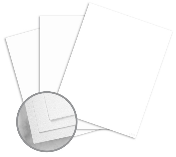 CRANE'S LETTRA Fluorescent White Card Stock - 8 1/2 x 11 in 110 lb Cover Lettra 100% Cotton 125 per Package