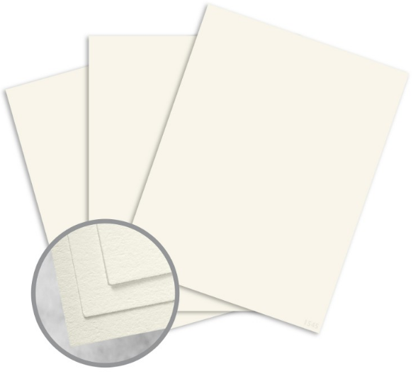 CRANE'S LETTRA Pearl White Card Stock - 8 1/2 x 11 in 110 lb Cover Lettra 100% Cotton 125 per Package