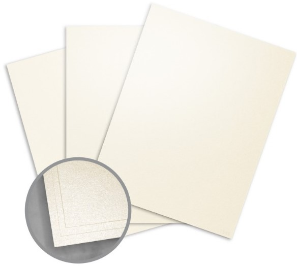 Elan Metallics Champagne Card Stock - 8 1/2 x 11 in 107 lb Cover Metallic C/2S 25 per Package
