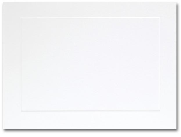 Fine Impressions Hi White Flat Panel Cards - A7 (5 1/8 x 7) 80 lb Cover Vellum - 50 per Box