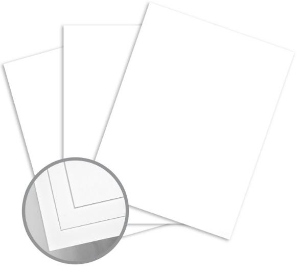 Futura White Card Stock - 8 1/2 x 11 in 80 lb Cover Dull C/2S 250 per Package