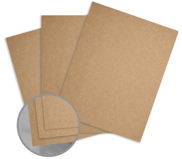 Glama Kraft Brown / Brown Card Stock - 28 x 40 in 129 lb Cover Kraft 100% Recycled 50 per Package
