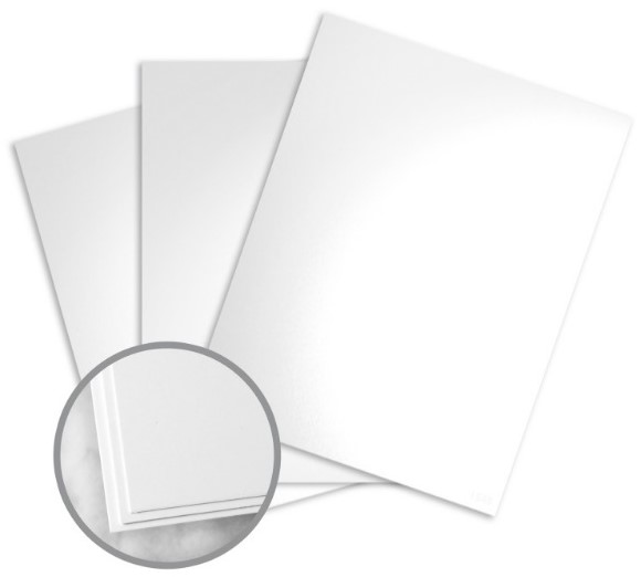Kromekote White Paper - 8 1/2 x 11 in 10 pt Cover Glossy C/1S 200 per Package