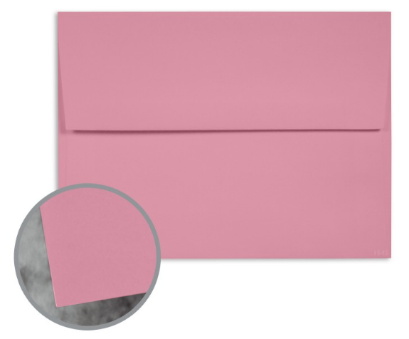 Manila File Mauve Envelopes - A7 (5 1/4 x 7 1/4) 70 lb Text Extra Smooth 25 per Box