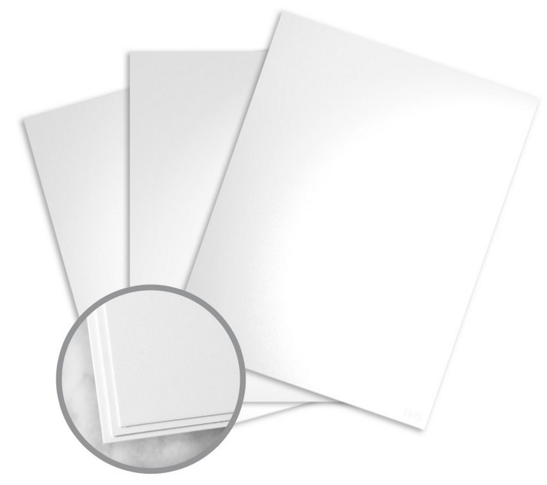 Loop Silk Coated White Card Stock - 8 1/2 x 11 in 80 lb Cover Silk Coated C/2S 50% Recycled 250 per Package