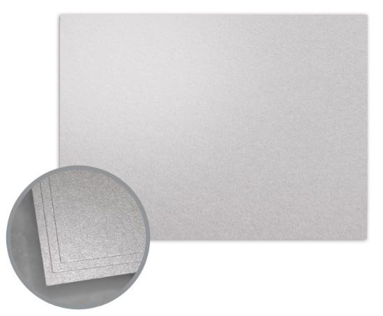ASPIRE Petallics Silver Ore Flat Cards - A7 (5 1/8 x 7) 98 lb Cover Metallic C/2S 400 per Carton