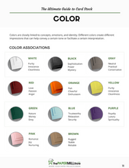 download free printable ultimate guide card stock cardstock cover color psychology