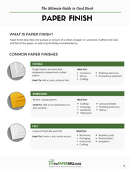 download free printable ultimate guide card stock cardstock cover paper finish