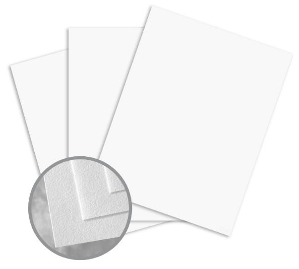 Royal Cotton Bright White Card Stock - 8 1/2 x 11 in 80 lb Cover Light Cockle 30% Recycled 25% Cotton 250 per Package
