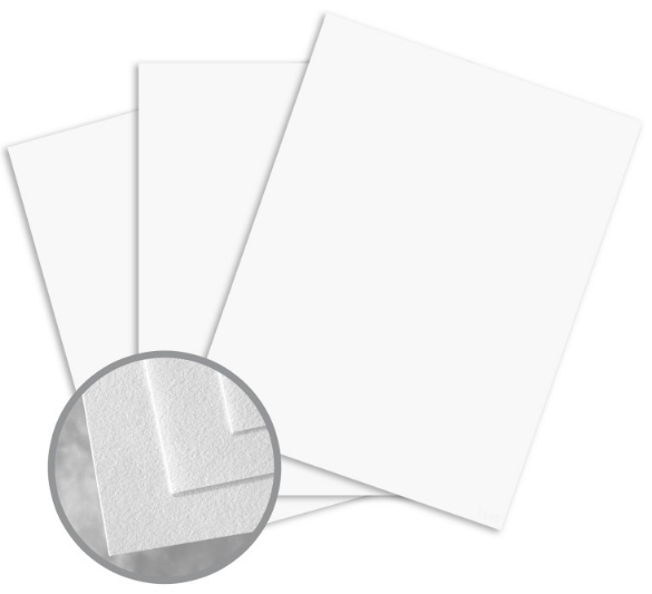 Royal Cotton Natural Card Stock - 8 1/2 x 11 in 80 lb Cover Light Cockle 30% Recycled 25% Cotton 250 per Package
