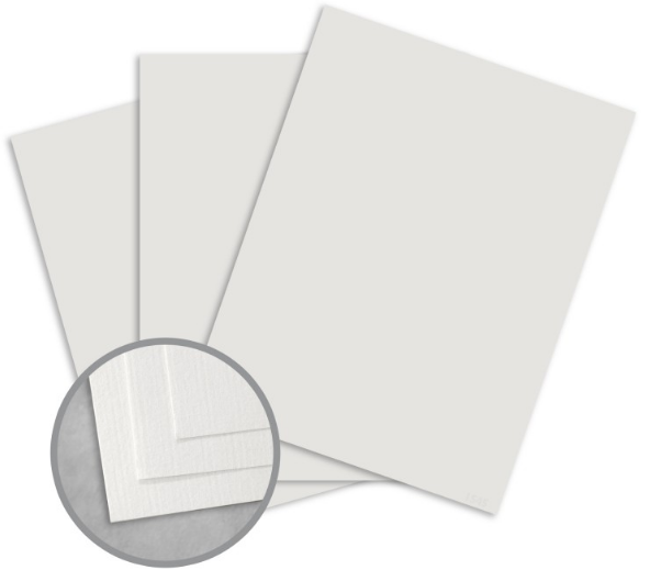 Royal Sundance Gray Card Stock - 8 1/2 x 11 in 80 lb Cover Laid 30% Recycled 250 per Package