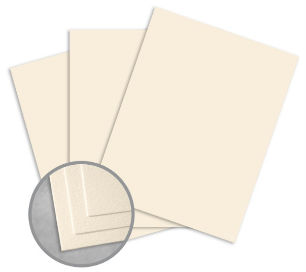 Royal Sundance Natural White Card Stock - 8 1/2 x 11 in 80 lb Cover Felt 30% Recycled 250 per Package