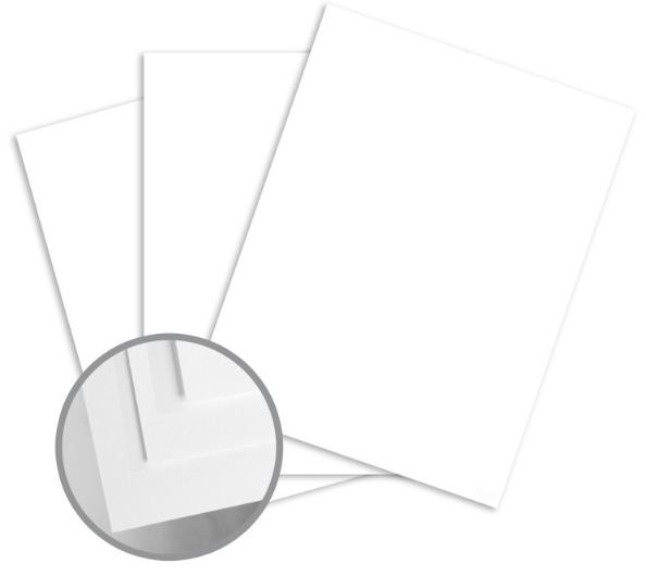Sterling Premium Digital White Card Stock - 18 x 12 in 80 lb Cover Matte C/2S 10% Recycled 250 per Package