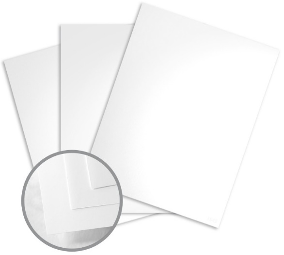 Sterling Premium Digital White Card Stock - 8 1/2 x 11 in 100 lb Cover Gloss C/2S 10% Recycled 200 per Package