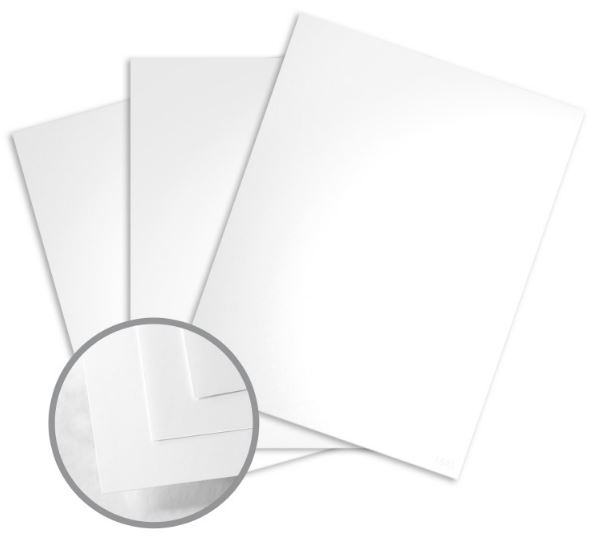 Sterling Premium Digital White Card Stock - 18 x 12 in 120 lb Cover Gloss C/2S 10% Recycled 200 per Package