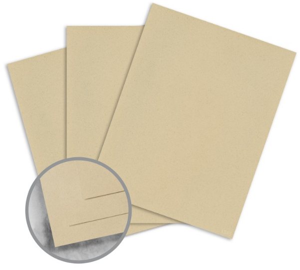 Strathmore Premium Wove Desert Haze Card Stock - 8 1/2 x 11 in 80 lb Cover Wove 30% Recycled 250 per Package