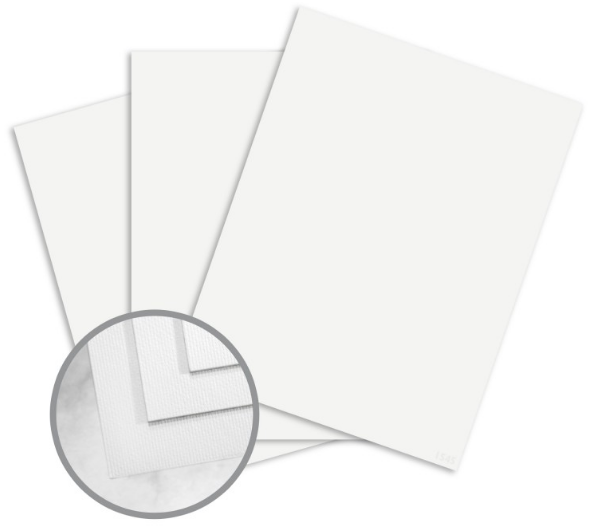 Strathmore Premium Enhance Ultimate White Card Stock - 8 1/2 x 11 in 80 lb Cover Silk 250 per Package
