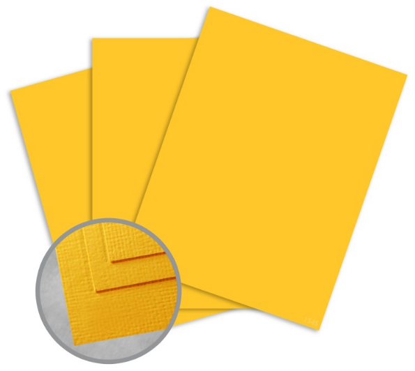 Treasures Goldenrod Card Stock - 8 1/2 x 11 in 80 lb Cover Textured 25 per Package