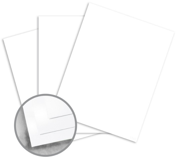 Utopia Premium White Card Stock - 28 x 40 in 150 lb Cover Silk C/2S 250 per Carton