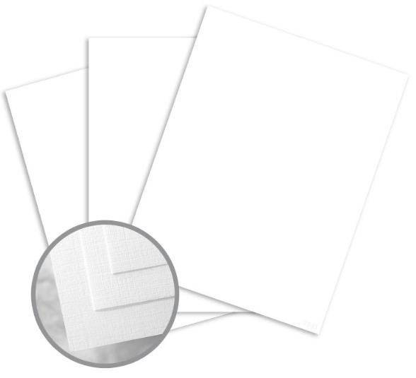 Via Linen Pure White Card Stock - 8 1/2 x 11 in 100 lb Cover Linen 250 per Package