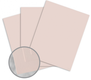 Via Smooth Light Pink Card Stock - 8 1/2 x 11 in 80 lb Cover Smooth 30% Recycled 250 per Package