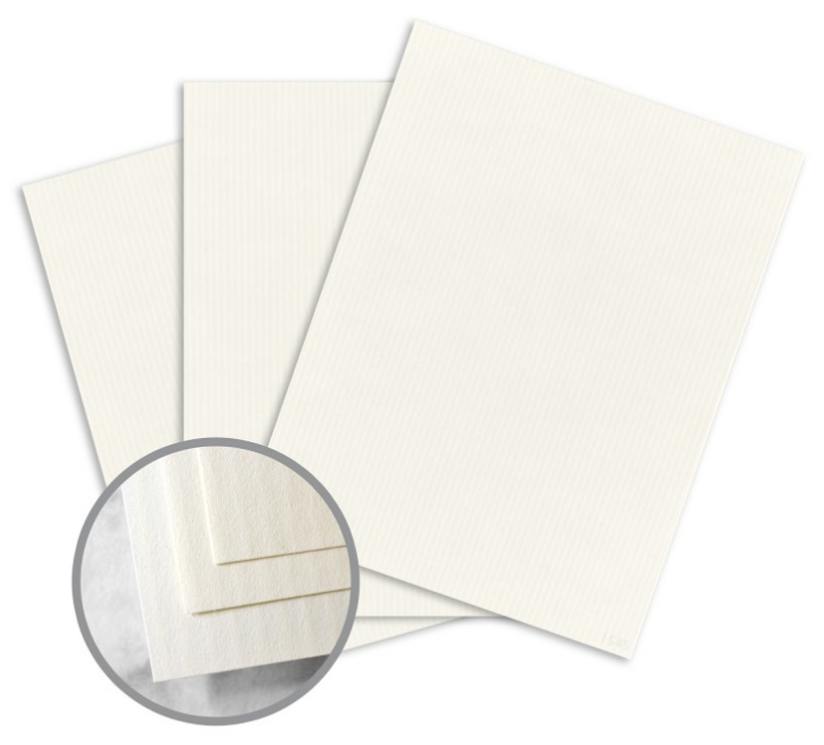 CLASSIC COLUMNS Recycled 100 Natural White Paper - 8 1/2 x 11 in 24 lb Writing Linear Embossed 100% Recycled Watermarked 500 per Ream