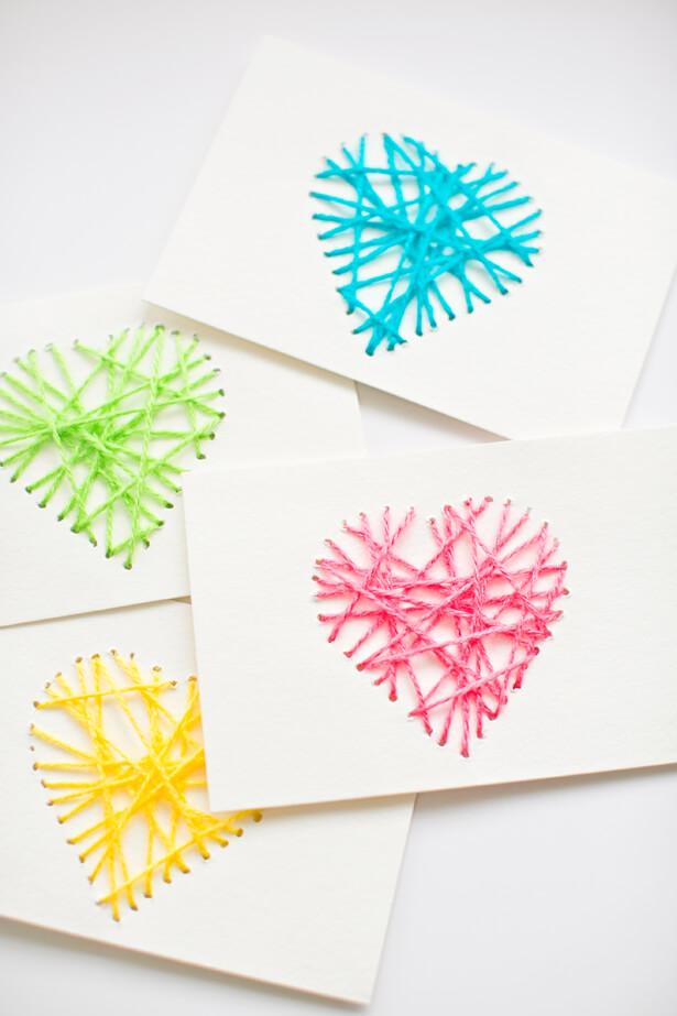 string art notecards hello wonderful