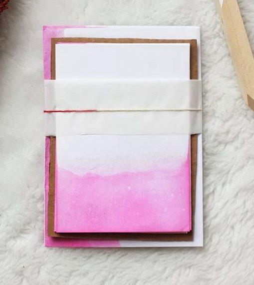 dip dye notecard poppy talk