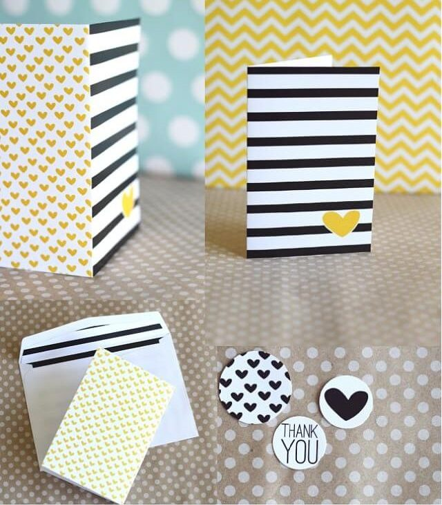 printable stripes notecard 36th avenue