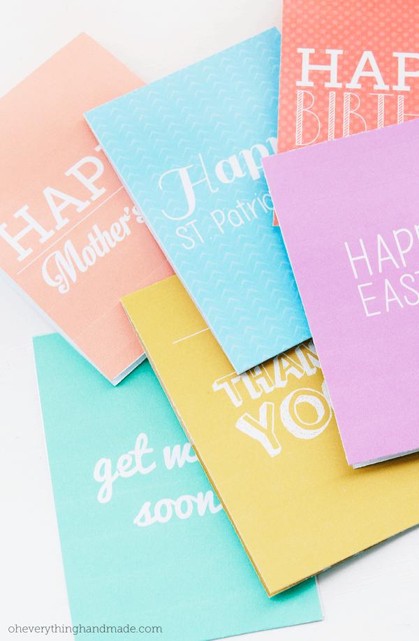 pastel notecard printable oh everything handmade