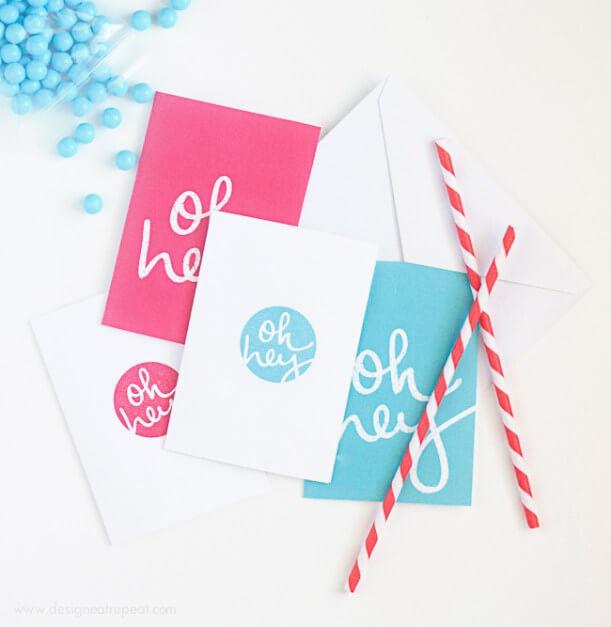 printable hello notecard design eat repeat