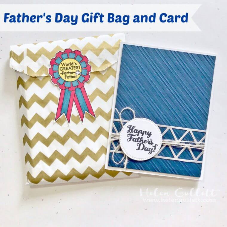 fathers day homemade card gift bag helen gullett