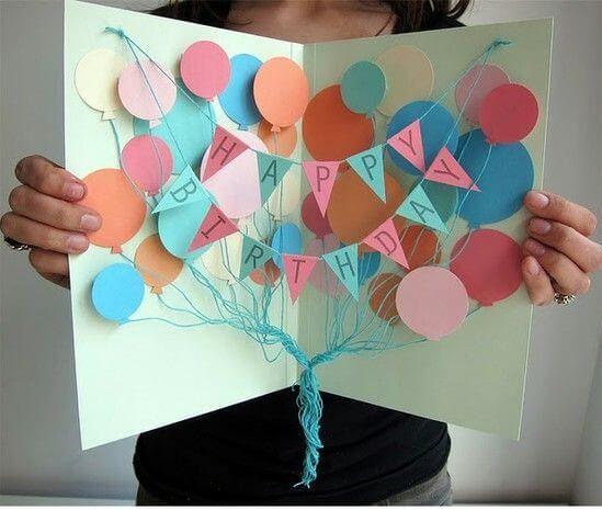 balloons pop up notecard diy real