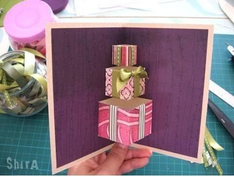 pop up birthday notecards bead cord