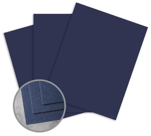 CLASSIC Linen Patriot Blue Card Stock linen 80 lb