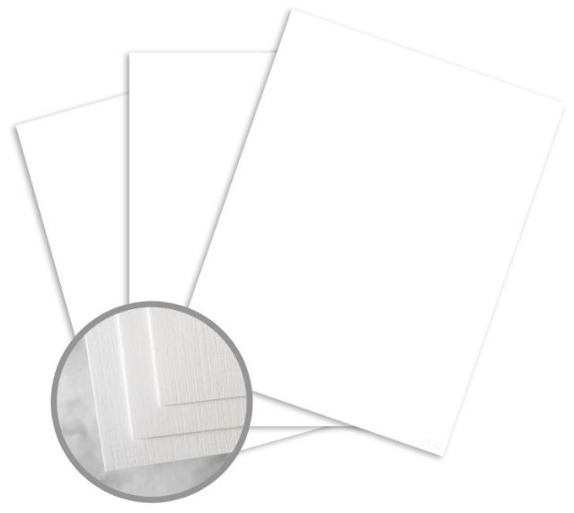 CLASSIC Linen Solar White Card Stock - 8 1/2 x 11 in 100 lb Cover Linen 250 per Package