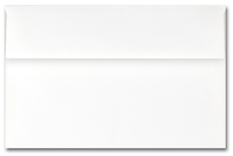 Fine Impressions Hi White Envelopes - A9 (5 3/4 x 8 3/4) 70 lb Text Vellum - 250 per Box