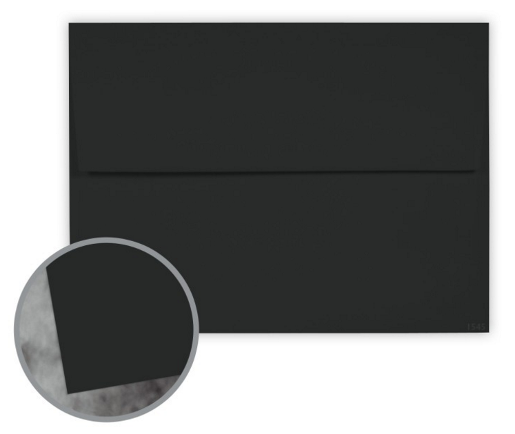Manila File Black Envelopes - A9 (5 3/4 x 8 3/4) 70 lb Text Extra Smooth 25 per Box