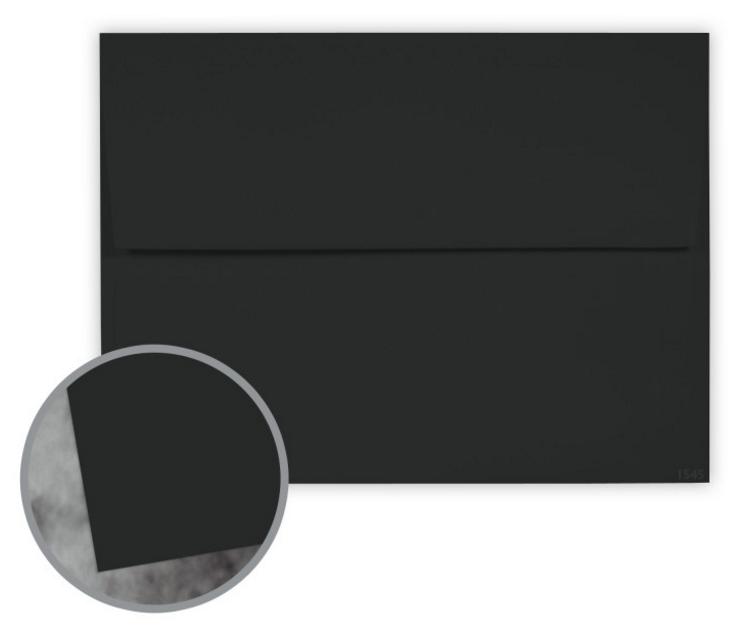 Manila File Black Envelopes - A9 (5 3/4 x 8 3/4) 70 lb Text Extra Smooth 25 per Box
