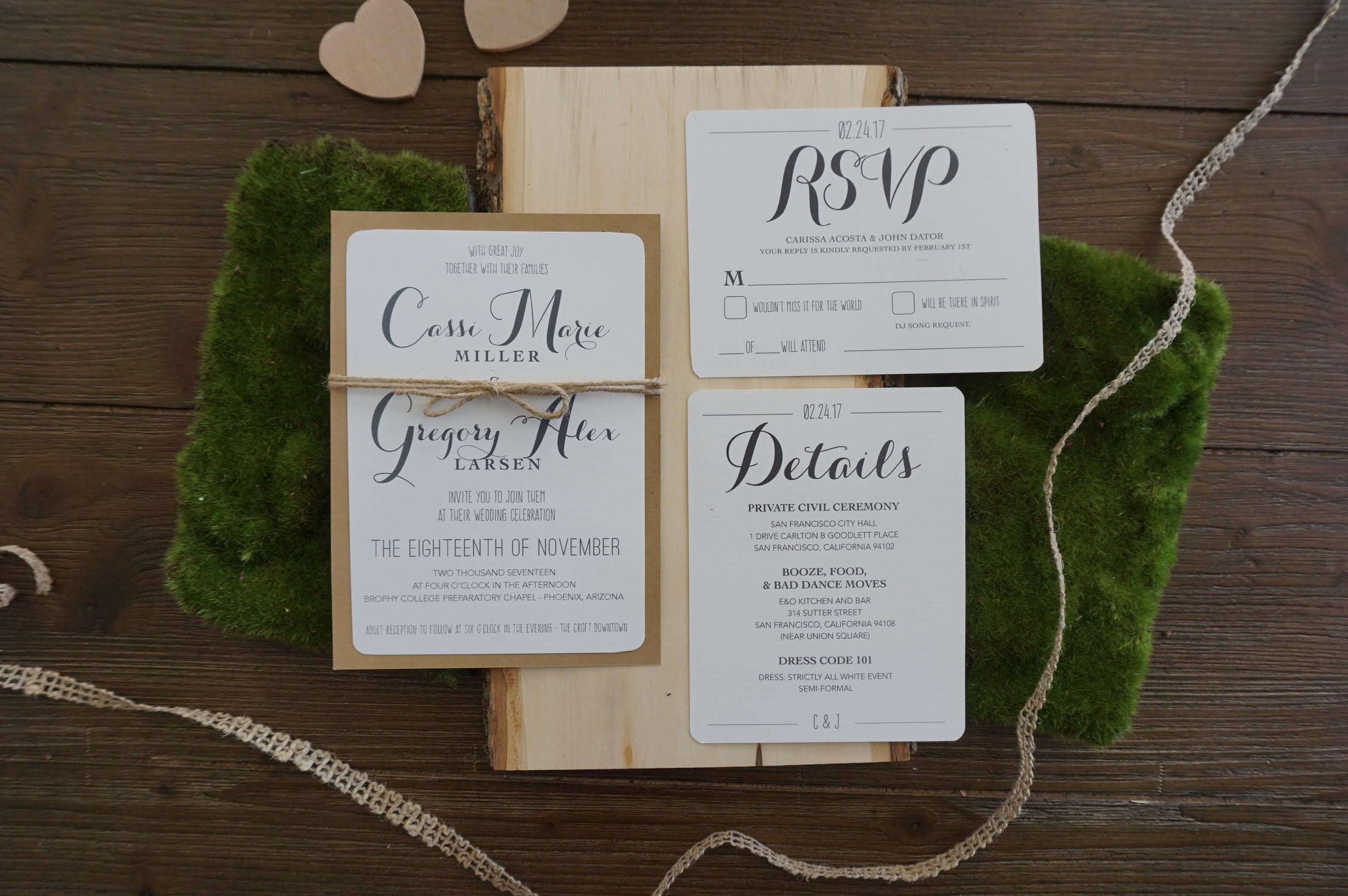 signature nicole boho chic wedding invitations
