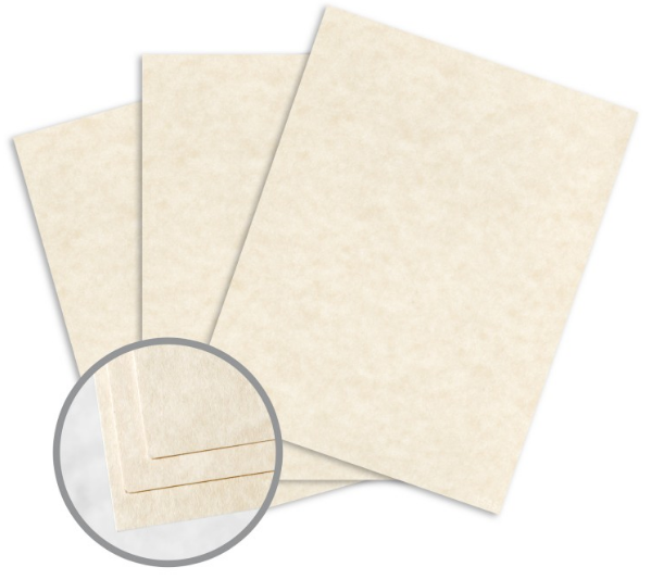 Astroparche Natural Card Stock - 8 1/2 x 11 in 65 lb Cover Vellum 30% Recycled 250 per Package