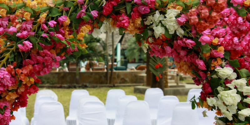 autumn wedding guide color palette magenta