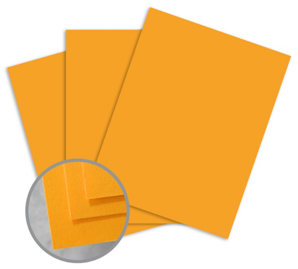 BriteHue Ultra Orange Card Stock - 8 1/2 x 11 in 65 lb Cover Semi-Vellum 250 per Package