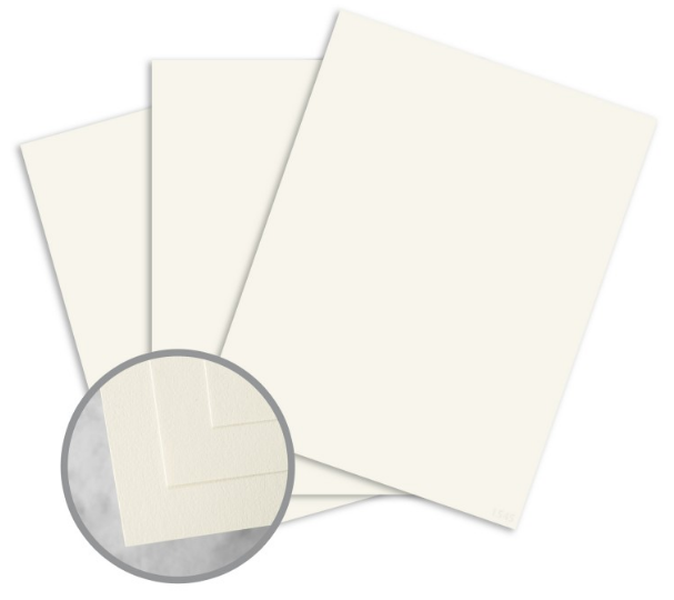 CLASSIC CREST Classic Natural White Card Stock - 8 1/2 x 11 in 80 lb Cover Smooth 250 per Package