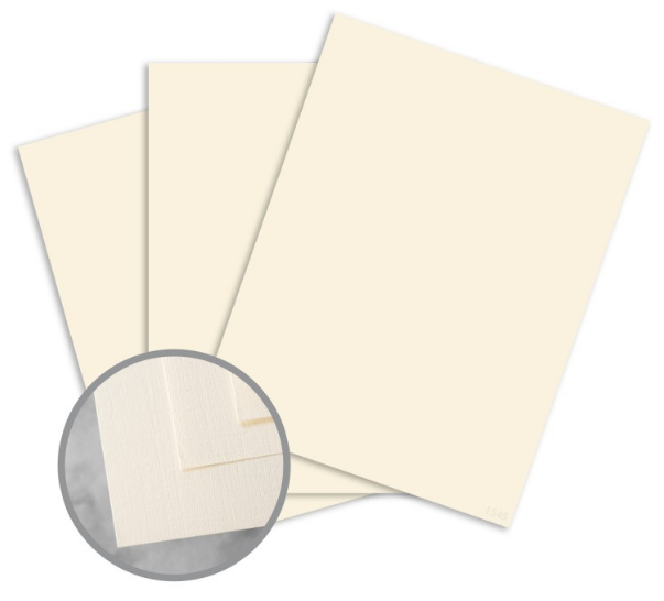 CLASSIC Linen Classic Natural White Card Stock - 8 1/2 x 11 in 80 lb Cover Linen 250 per Package